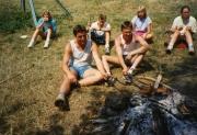 Zusammen mit Herbert am Lagerfeuer